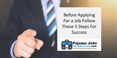 Before Applying For a Job Follow These 5 Steps For Success